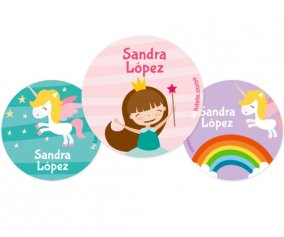 Lot de 3 Badges Personnalisables Princesse