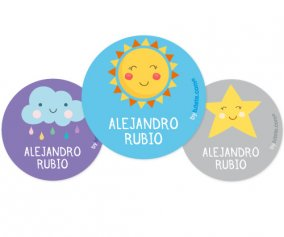 Pack 3 Badges Personnalisables Sol