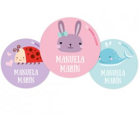 Lot de 3 Badges Personnalisables Lapin
