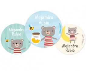 Pack de 3 Badges Personnalisables Ours en Peluche