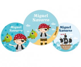 Pack de 3 Badges Personnalisables Pirate