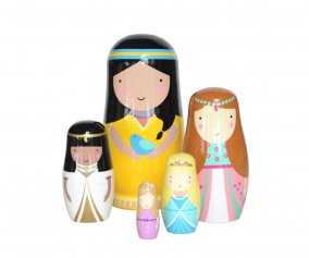 Matrioscas de Madeira Dolls Princess
