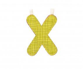 Fabric Letter X Lilliputiens