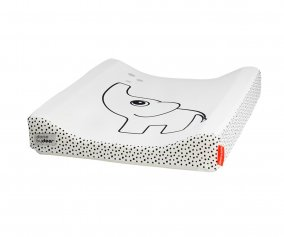 Elphee White Changing Pad, grey