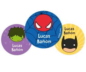 Pack 3 Badges Personnalisables Héros