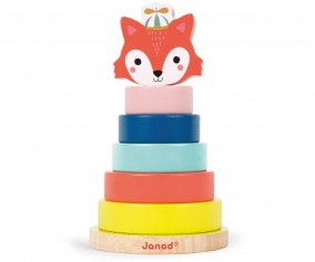Fox baby forest wooden stacker Janod