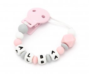 Attache-sucette en Silicone Personnalisable NEW Sweet Pink