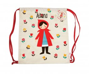 Red riding hood drawstring bag