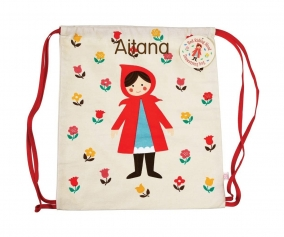 Personalised Red Riding Hood Rucksack