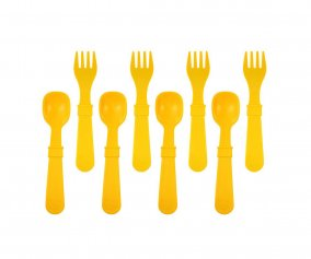 Re-Play 8 Pack Utensils - Sunny Yellow