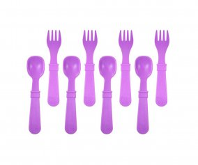 Re-Play 8 Pack Utensils - Aqua