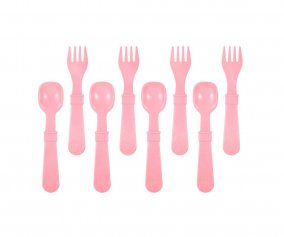 Re-Play 8 Pack Utensils - Baby Pink