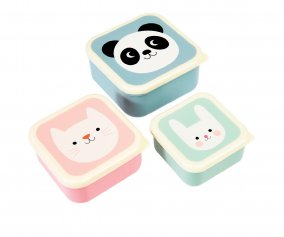 3 Snack Boxes Panda, Cat and Rabbit