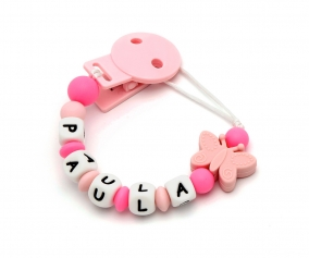 Attache-sucette Silicone Personnalisable Papillon
