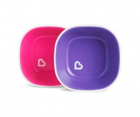 Lot de 2 bols Splash Violet/Rose