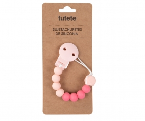 Attache-sucette Silicone Rose