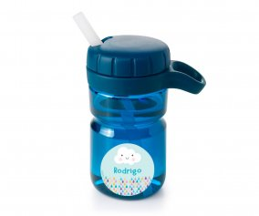 Borraccia Top con Cannuccia Navy 360ml Personalizzabile