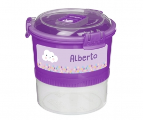 Récipient Alimentaire Personnalisable Lunch Stack To Go Lilas 965ml