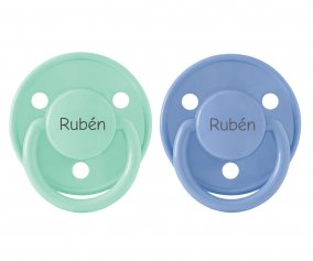 Chupetes Personalizados BIBS Mint y Sky Blue