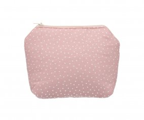 Trousse de Toilette Personnalisable Mini Dot Rose