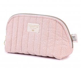 Trousse de Toilette Personnalisable Blanc Bubble/Rose Misty