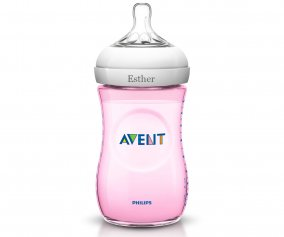 Biberón Natural Rosa 2 AVENT Personalizable 330ml