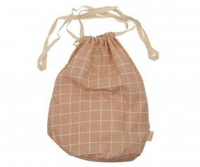 Multibag in Cotone Large Rose Check