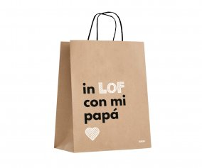 Sac cadeau en papier kraft In Lof with My Dad