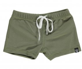 Bañador Short Palm Ribbed Olive Green