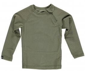 Camiseta Bañador Palm Ribbed Olive Green