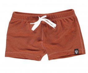 Bañador Short Earth Ribbed Rust Red