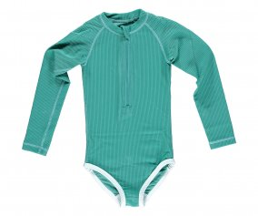 Tuta Nuoto ML Bimba Lagune Ribbed Green