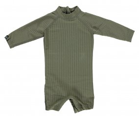 Bañador Palm Ribbed Manga Larga Olive Green