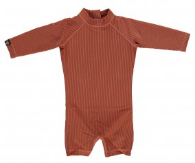 Bañador Earth Ribbed Manga Larga Rust Red