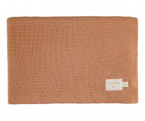 Couverture Tricot So Natural Biscuit avec Poche Personnalisable