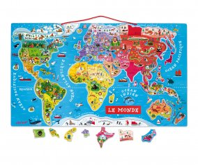 Puzzle Magnetico Mappamondo in Francese