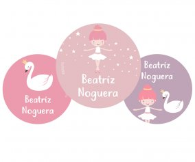 Pack 3 Badges Personnalisables Danseuse