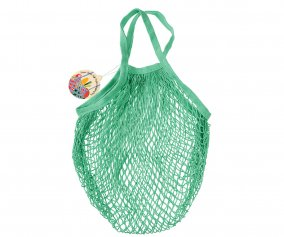 Mint Green Mesh String Bag