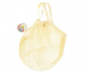 Cream Mesh String Bag