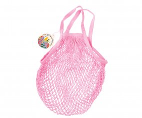 Light Pink Mesh String Bag