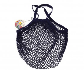 Navy Blue Mesh String Bag