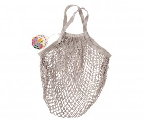 Light Grey Mesh String Bag