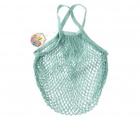 Light Blue Mesh String Bag