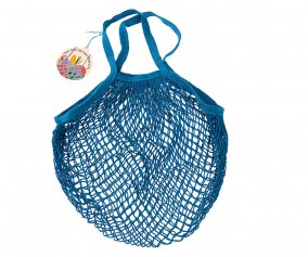 Greek Blue Mesh String Bag