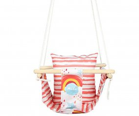 Altalena Baby Swing Pink Rainbow