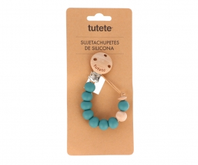Attache-Sucette Silicone Nature Teal