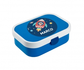 Personalised Blue Midi Campus Lunch Box Space