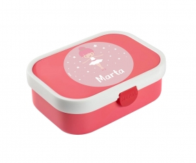 Personalised Pink Midi Campus Lunch Box Ballerina