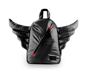 Mini Zaino Wings Black