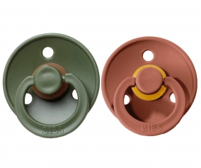 2 Sucettes BIBS Woodchuck/Hunter Green